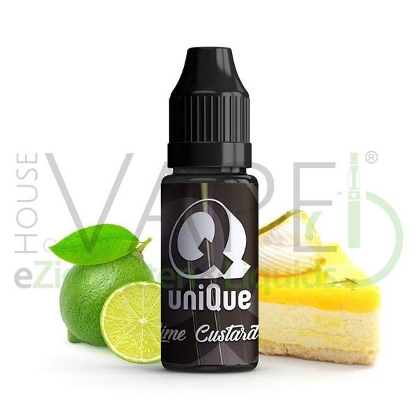 Lime Custard Aroma von Unique ♥ Zitronen-Baiser ✔ 6-8% ✔ 10ml ✔ Auch in unseren Shops ✔