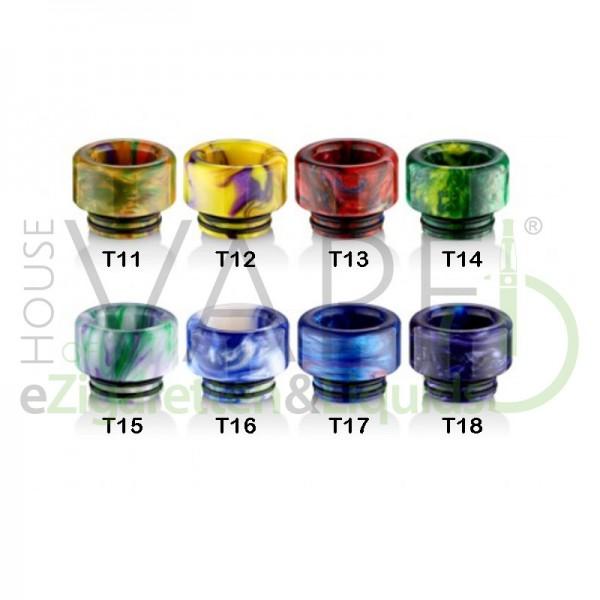 Resin 810 DripTip (Mundstück) T1 ♥ 810er Anschluß ✔ 2 O-Ringe für festen Halt ✔ Robustes Epoxidharz ✔ Auch in unseren Shops verfügbar ✔