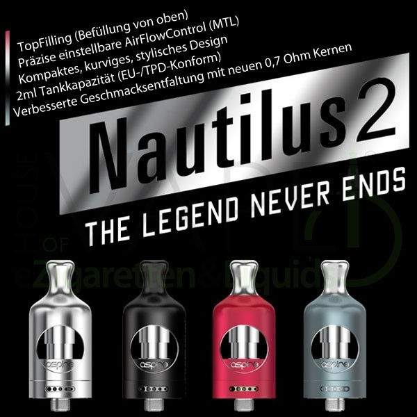 Aspire Nautilus 2 MTL 0,7 Ohm bei House of Vape