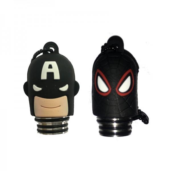 DripTip mit Schutzkappe ♥ Superhelden-Design ✔ 810er-Format ✔ Aus Resin (Kunstharz) ✔