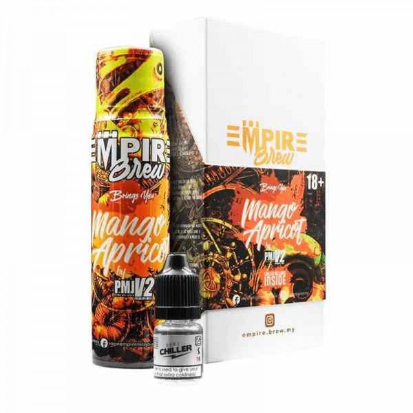 Mango Apricot Liquid von Empire Brew ♥ 50ml Shortfill inkl. 10ml Chiller Shot ✔ Mango + Aprikose ✔ Wahlweise mit oder ohne Kühle ✔ Schneller Versand ✔ In unseren Shops testen ✔