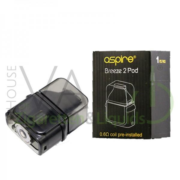 Aspire Breeze 2 Pod ♥ Ersatztank ✔ Inklusive 0,6 Ohm Coil ✔ 3ml Tank ✔ Bequemes Befüllen ✔ Dampf und Geschmack ✔