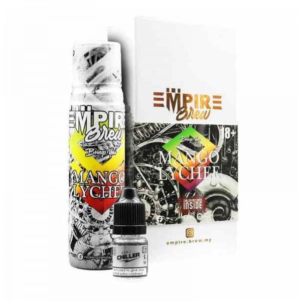 Mango Lychee Liquid von Empire Brew ♥ 50ml Shortfill inkl. 10ml Chiller Shot ✔ Mango + Lychee ✔ Wahlweise mit oder ohne Kühle ✔ Schneller Versand ✔ In unseren Shops testen ✔