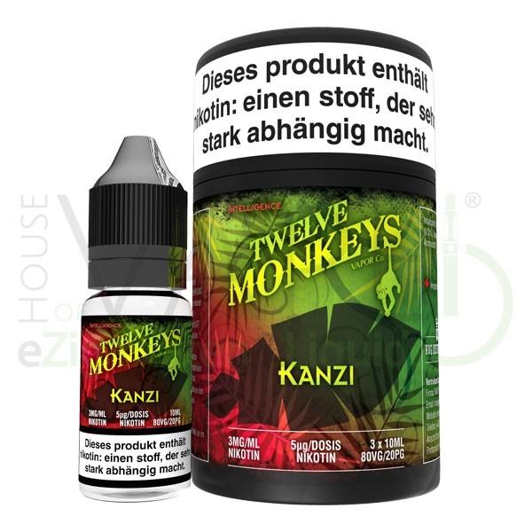 Kanzi Liquid von 12Monkeys ♥ 3x10ml ✔ Erdbeere, Wassermelone, Kiwi ✔ Schneller Versand ✔ Auch in unseren Shops ✔ Ab 50€ versandkostenfrei ✔