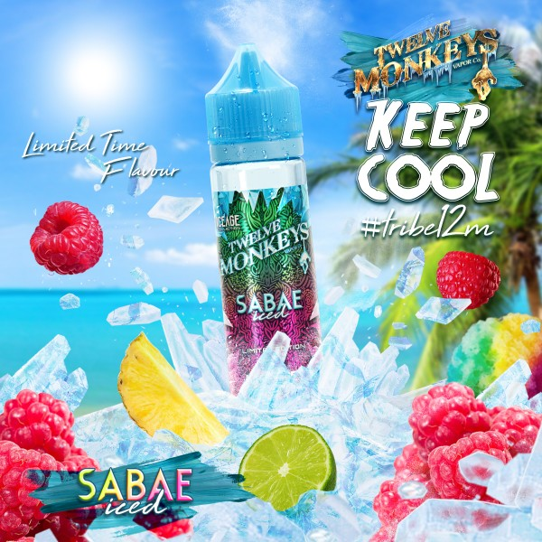 IceAge Sabae Iced Liquid von 12Monkeys ♥ Shortfill ✔ Sorbet mit Himbeere, Limette, Ananas ✔ Schneller Versand ✔ Auch in unseren Shops ✔ Ab 50€ versandkostenfrei ✔
