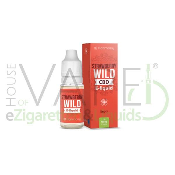 Strawberry Wild CBD Liquid von Harmony ♥ Erdbeere + Cannabis ✔ Mit Cannabidiol ✔ In unseren Shops vorrätig ✔ Schneller Versand ✔ Günstig bestellen ✔