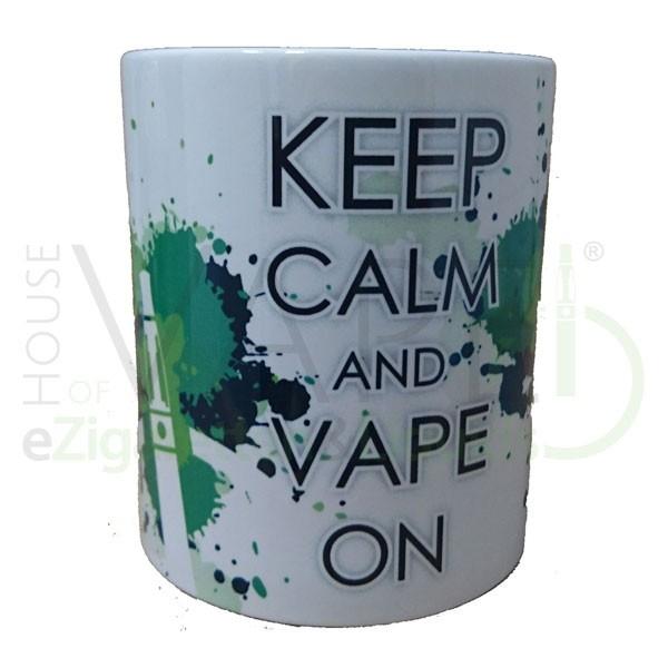 """Kaffeetasse """"Keep calm and Vape on"""" ♥ Ungeregelt, ohne Batterie ✔ Kaffee schmeckt noch besser ✔"""