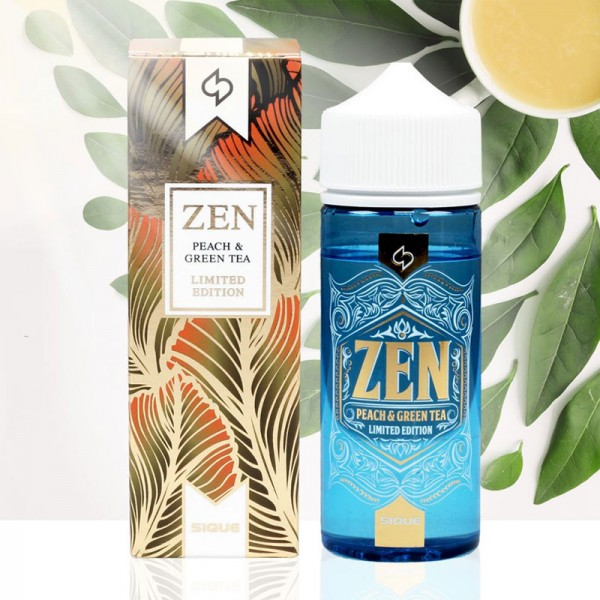 ZEN Liquid von Sique ♥ 100ml Shake b4 Vape ✔ Grüner Tee mit Pfirsich ✔ Schneller Versand ✔ Auch in unseren Ladengeschäften ✔