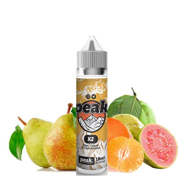 K2 Aroma von Peak ♥ Birne, Guave, Clementine ✔ Auch in unseren Shops ✔ Schneller Versand ✔ Einfache Dosierung ✔