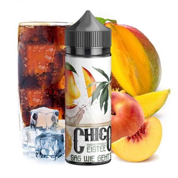 Vapehansa Chico Sag wie geht's ♥ Mango-Pfirsich-Eistee ✔ Longfill Liquid ✔ Auch in allen Filialen verfügbar ✔