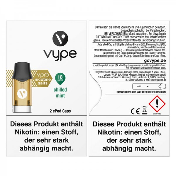 Vype ePod vPro Caps Chilled Mint 2er Pack
