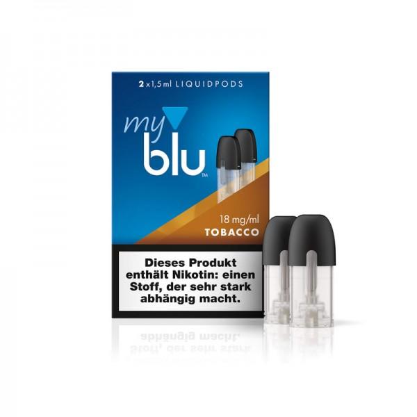 myblu Tobacco Liquidpod ♥ Zwei Stück ✔ Typisches Tabakaroma ✔ Einfach aufstecken und dampfen ✔ Schneller Versand ✔ Günstig bestellen ✔