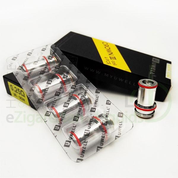 Crown 3 Kerne (Coils, Heads) von UWell für eZigaretten 4er-Pack