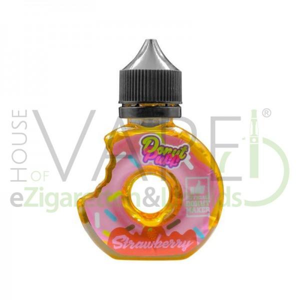 Strawberry Donut von Donut Puff ♥ Locker gebackener Donut, fruchtig süße Erdbeere ✔ 50ml Shake b4 Vape ✔