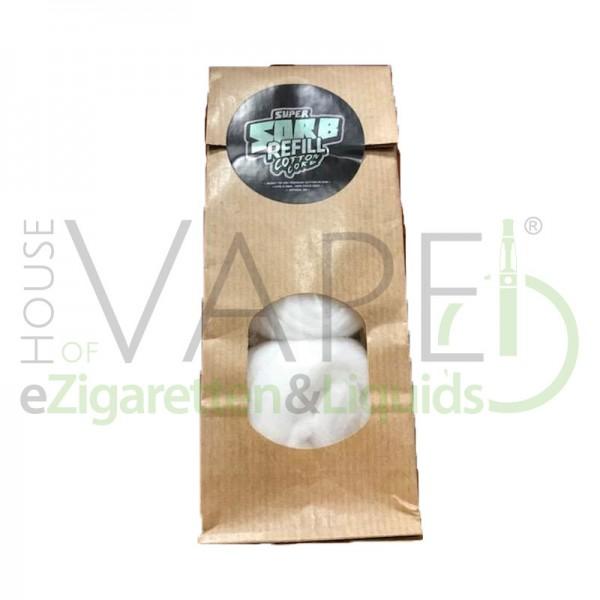 Super Sorb Refill Cotton Cord ♥ Nachfüllpack ✔ Kein Eigengeschmack ✔ Sehr Saugfähig ✔ 2x ca. 3m Wattestrang ✔