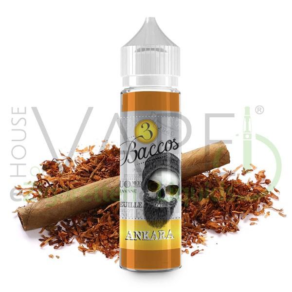 Ankara Liquid von 3 Baccos ♥ Shortfill 50ml ✔ 70/30 VG/PG ✔ Tabak mit leichter Süße ✔ Schneller Versand ✔