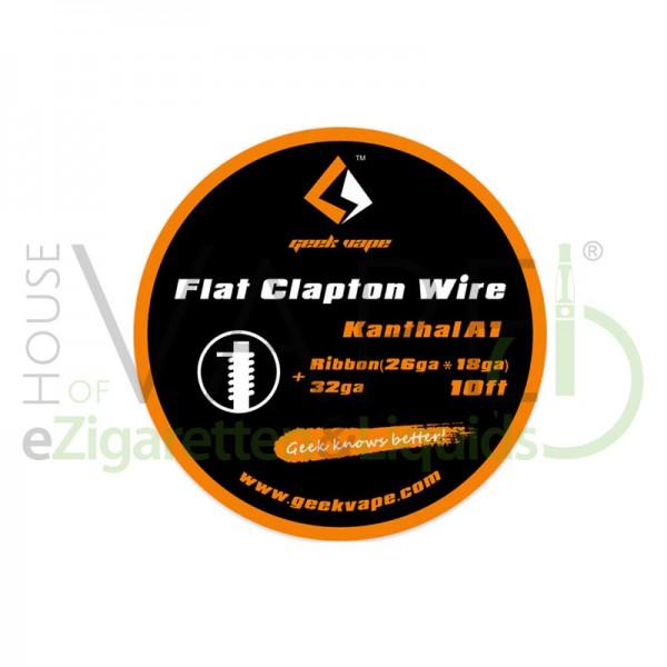 Flat Clapton Kanthal A1 von Geekvape ♥ Ca. 3 Meter ✔ Flach- und Runddraht ✔