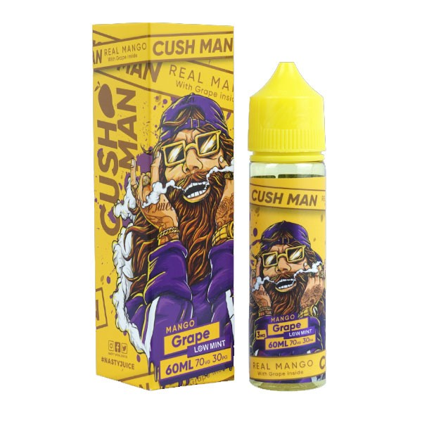 Cush Man Mango Grape Liquid von Nasty Juice ♥ Shortfill ✔ Mango, Traube, leichte Minze ✔ In unseren Shops testen ✔