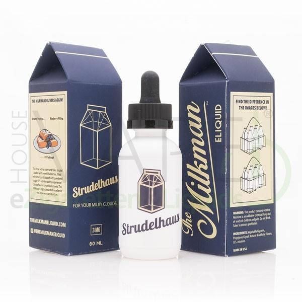 Strudelhaus Liquid von The Milkman ♥ 60ml ✔ Blaubeer Strudel mit Creme ✔ Schneller Versand ✔ ab 50 € versandkostenfrei