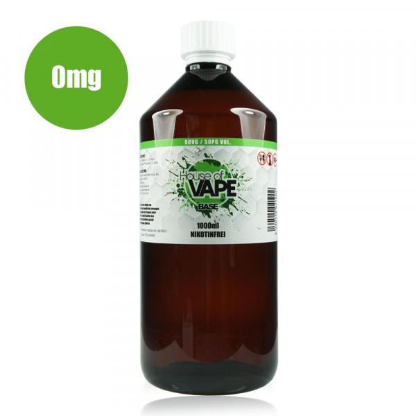 HoV Base 1000ml-Flasche 50/50 Nikotinfrei