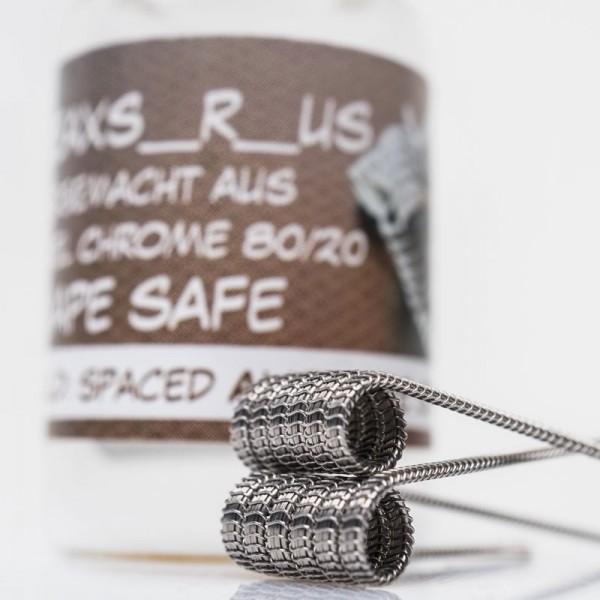 AllNiCr 2x Handmade NiCr Spaced Alienwire Staple