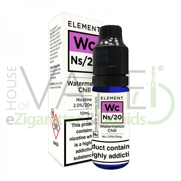 Watermelon Chill Wc Ns20 Liquid von Element ♥ Wassermelone, Menthol ✔ Mit Nikotinsalz ✔