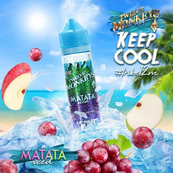 IceAge Matata Iced Liquid von 12Monkeys ♥ Shortfill ✔ Apfel, Traube, Koolada ✔ Schneller Versand ✔ Auch in unseren Shops ✔ Ab 50€ versandkostenfrei ✔